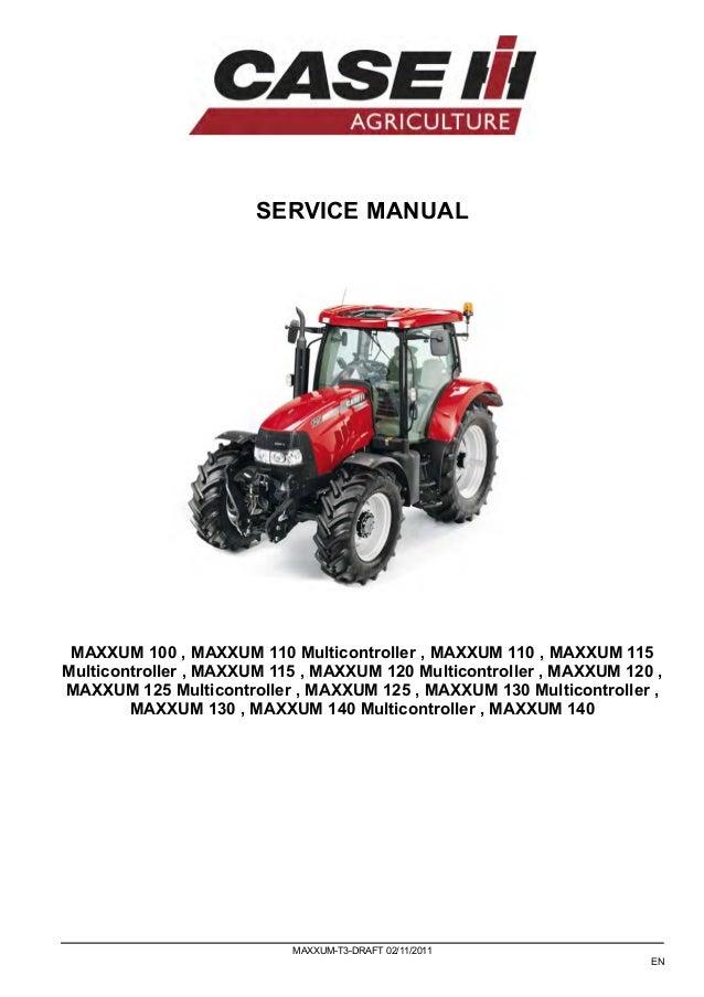 case ih maxxum 115 tractor service repair manual rh slideshare net Farmall 140 Service Manual Farmall 140 Specifications
