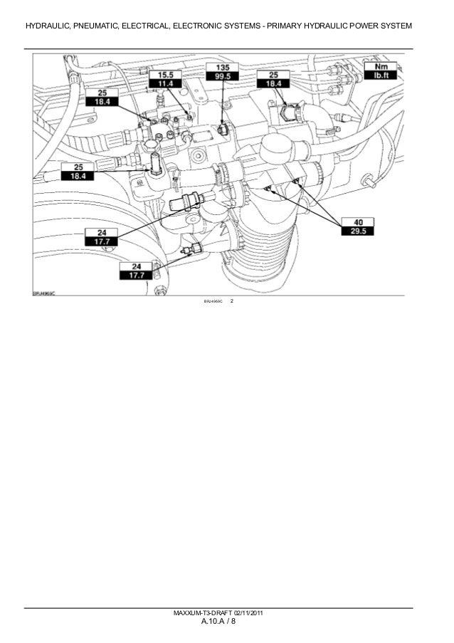 CASE IH MAXXUM 115 TRACTOR Service Repair Manual Ih Tractor Wiring Diagram on