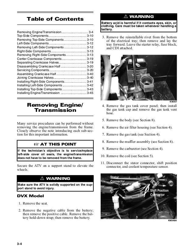 2006 Arctic Cat 250 Dvx And Utility Atvs Service Repair Manual