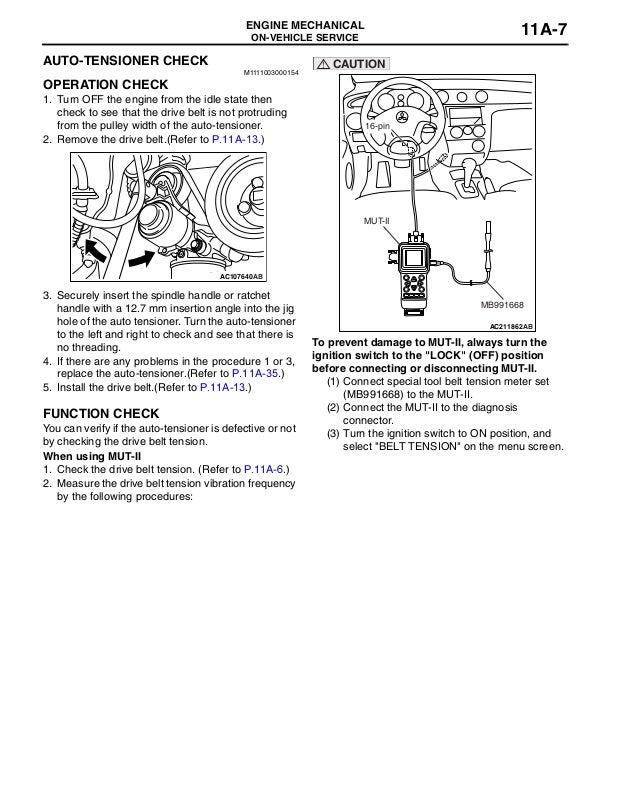 2007 MITSUBISHI AIRTREK Service Repair Manual