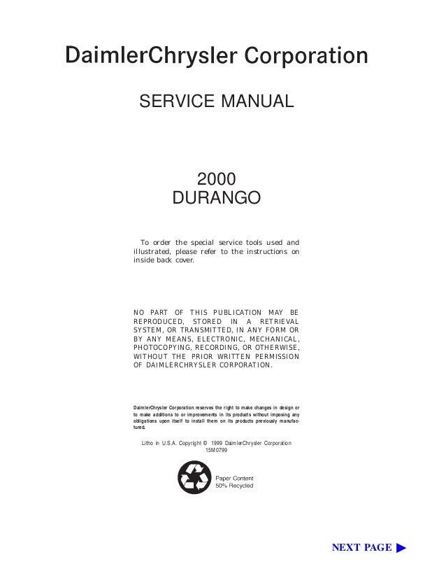 2000 dodge durango service repair manual rh slideshare net durango service manual free 2004 durango service manual 2006