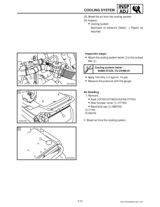 2001 Yamaha Venture 700 (VT700) SNOWMOBILE Service Repair