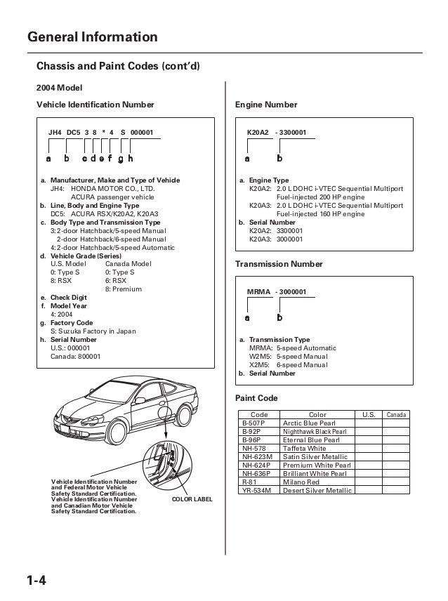 2003 ACURA RSX Service Repair Manual   Acura Rsx K20a2 Engine Diagram      SlideShare