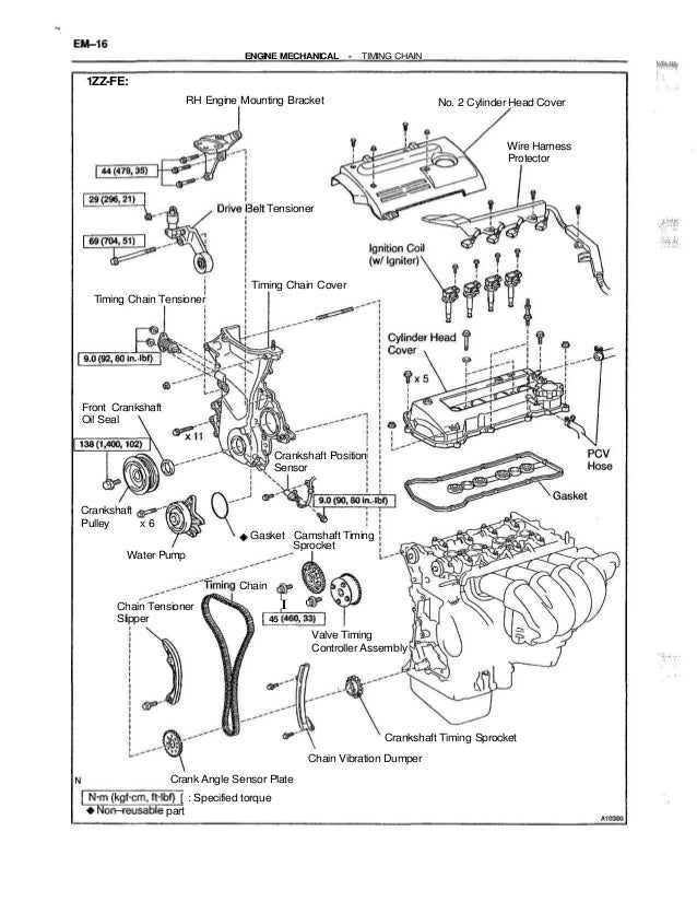 2001 Toyota Camry Timing Belt Replacement Instructions