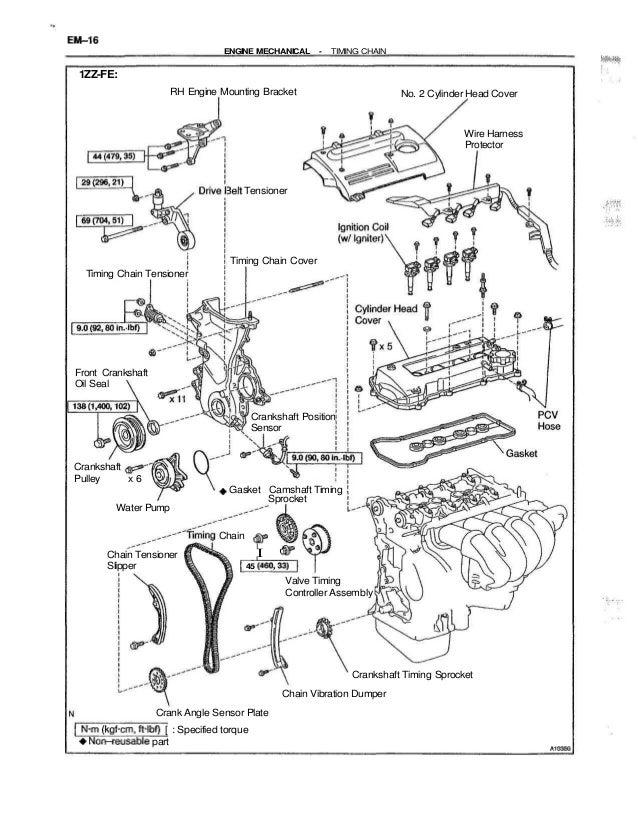 2002 toyota celica service repair manualspecified torque a10352