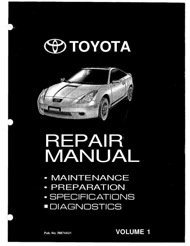 2001 toyota celica service repair manual rh slideshare net toyota celica workshop manual toyota celica repair manual