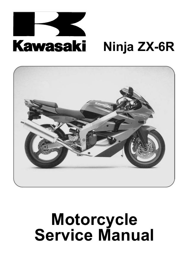 2002 Kawasaki Zx600 J3 Ninja Zx 6r Service Repair Manual