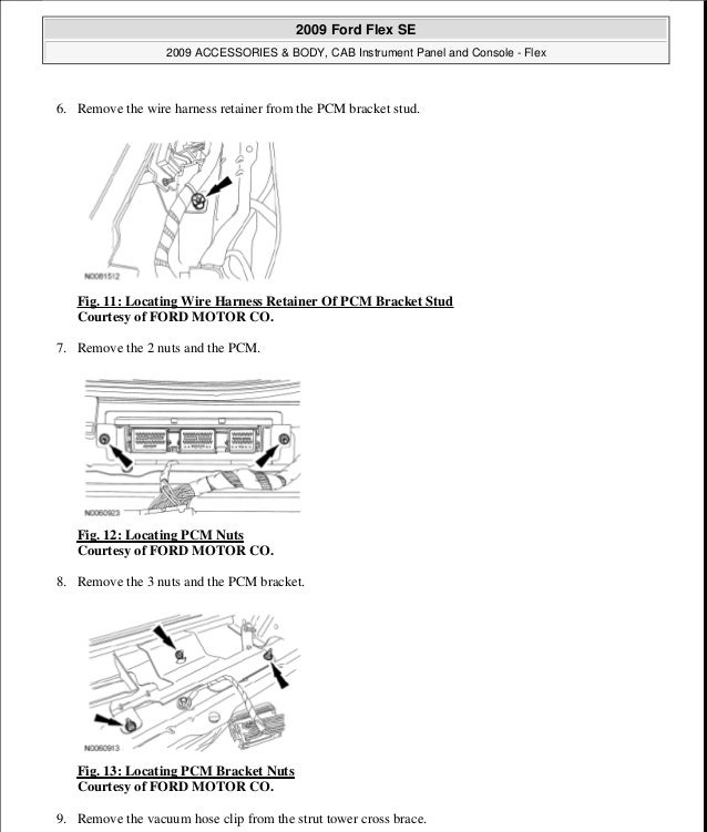2011 FORD FLEX Service Repair Manual
