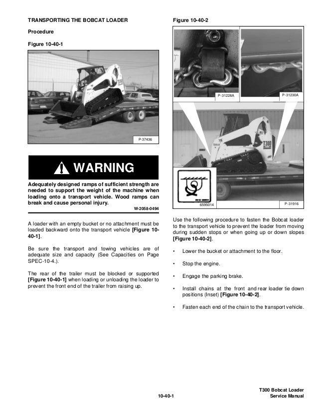 BOBCAT T300 COMPACT TRACK LOADER Service Repair Manual S/N 525511001 …