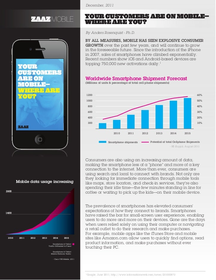 December, 2011                                                              YOUR CUSTOMERS ARE ON MOBILE—                Z...