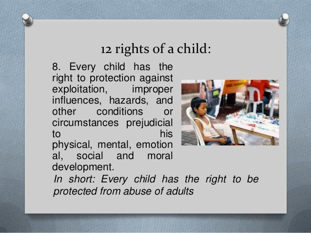 rights of a child  10 12 rights of a child