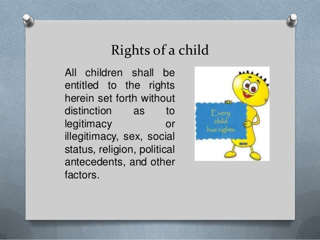 Essay on rights and duties of children