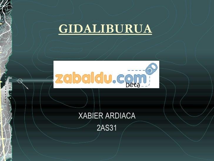 GIDALIBURUA XABIER ARDIACA 2AS31