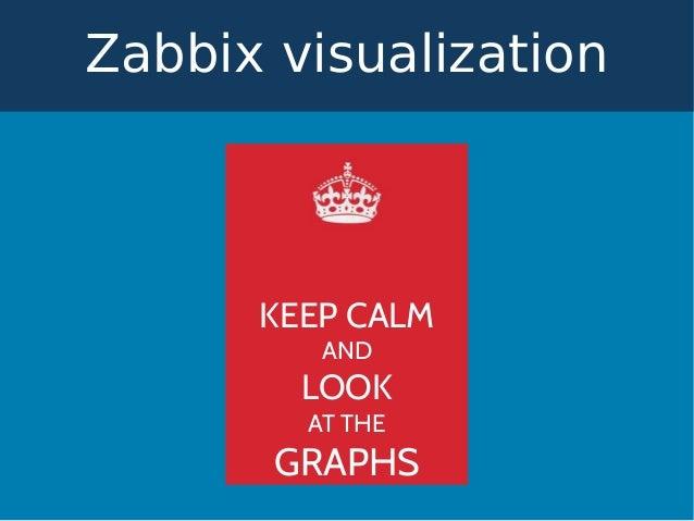 Zabbix visualization KEEP CALM AND LOOK AT THE GRAPHS