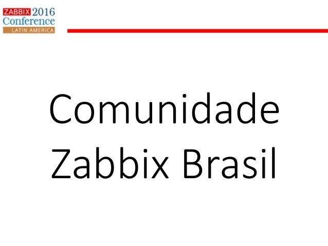 Comunidade Zabbix Brasil