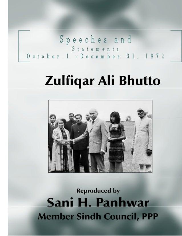 Speeches and Statements Oct – Dec, 1972; Copyright © www.bhutto.org 2 President of Pakistan ZULFIKAR ALI BHUTTO SPEECHES A...