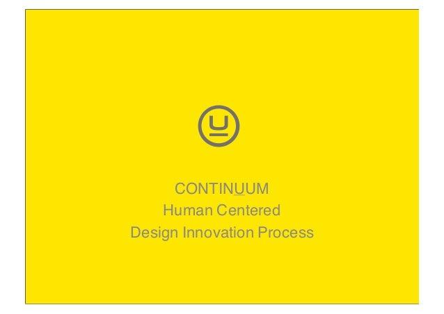 CONTINUUM Human Centered Design Innovation Process