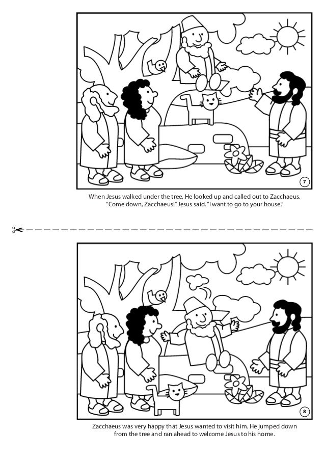 Zacchaeus Meets Jesus Coloring Book