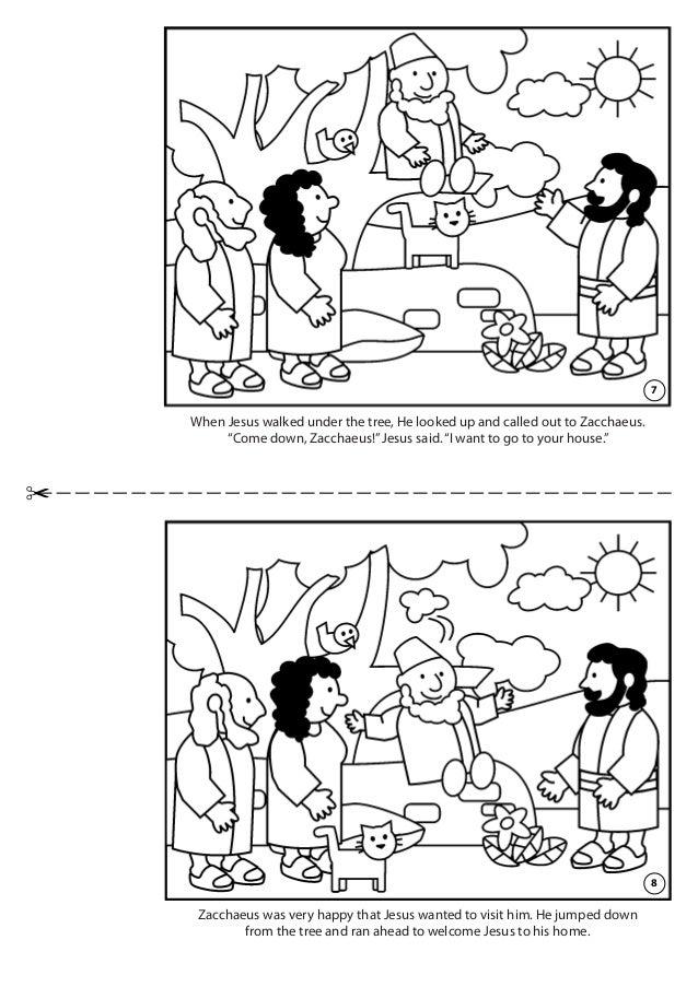 zacchaeus bible coloring pages - Jesus Zacchaeus Coloring Page