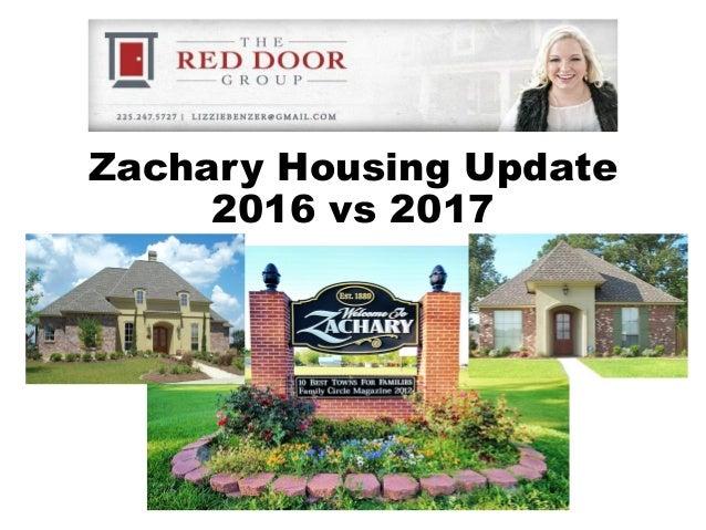 Zachary Housing Update 2016 vs 2017