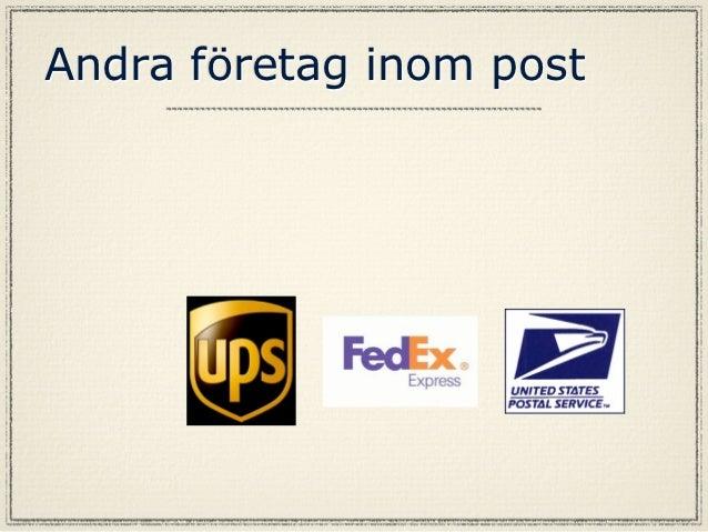 Resultat av postFlera av företag har säkert uppstått av post med hjälp avkomunikationen från posten.Resultatet av detta är...