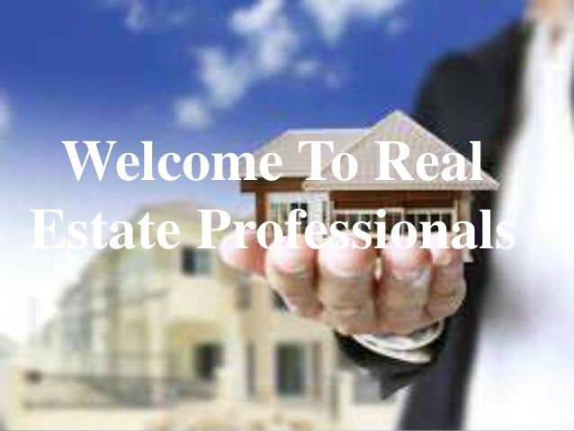 welcome to real estate professionals