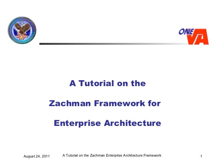 A Tutorial on the Zachman Framework for  Enterprise Architecture