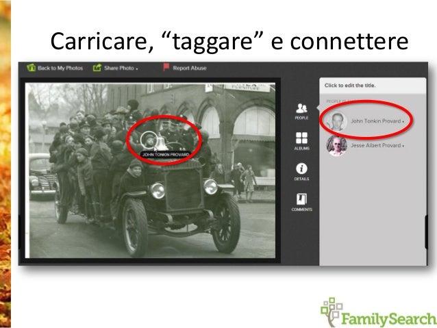 Collegare immagini dei registri nell'albero familiare