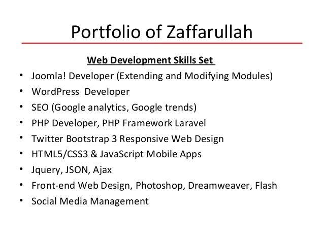 Portfolio of Zaffarullah Web Development Skills Set • Joomla! Developer (Extending and Modifying Modules) • WordPress Deve...