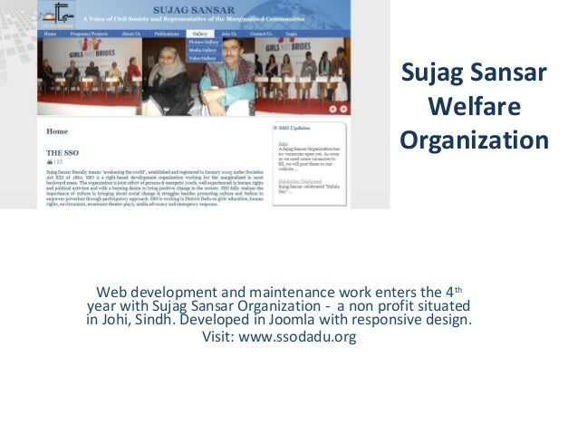 Sujag Sansar Welfare Organization Web development and maintenance work enters the 4th year with Sujag Sansar Organization ...