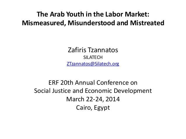 The Arab Youth in the Labor Market: Mismeasured, Misunderstood and Mistreated Zafiris Tzannatos SILATECH ZTzannatos@Silate...