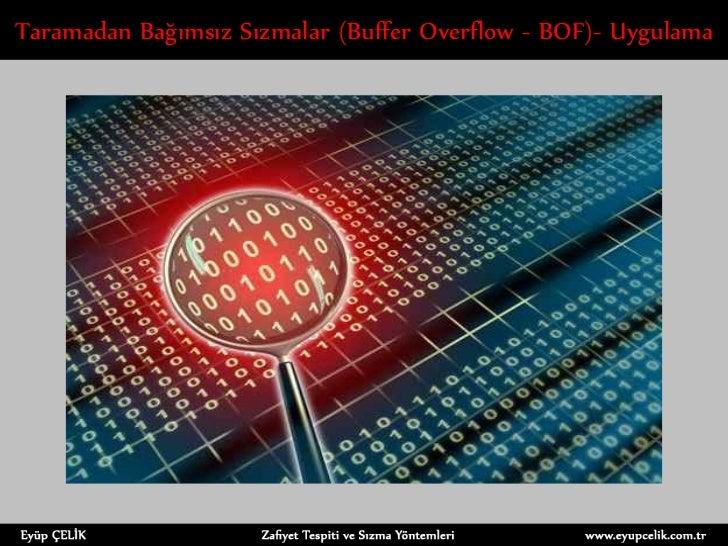 Taramadan Bağımsız Sızmalar (Buffer Overflow - BOF)- Uygulama