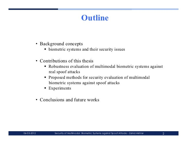 Multimodal biometrics thesis