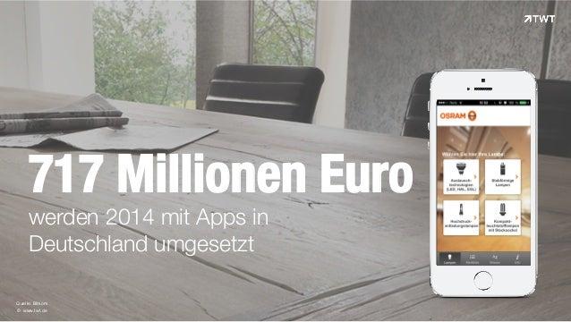 © www.twt.de Quelle: Bitkom 717 Millionen Euro werden 2014 mit Apps in Deutschland umgesetzt