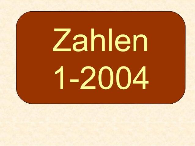 Zahlen 1-2004