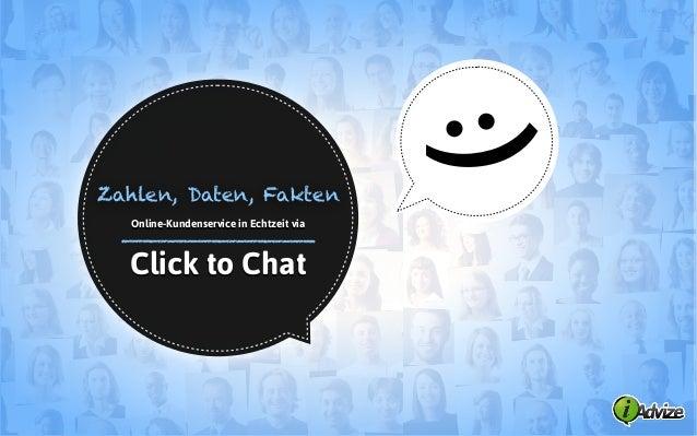 :)Click to ChatOnline-Kundenservice in Echtzeit viaZahlen, Daten, Fakten