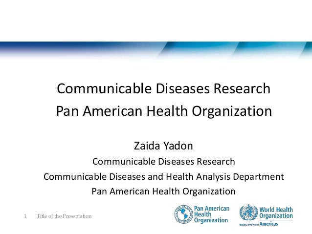 Communicable Diseases Research • Setting Priorities • Promote and support research • Promote and support Capacity Title of...