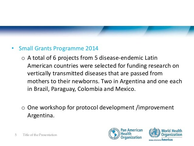 Coordinate research and capacity building initiatives -activities • Small Grant Programme 2015 o A total of 9 projects fro...