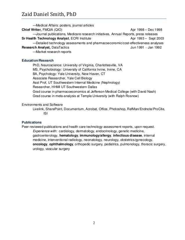 2 - Publication Resume