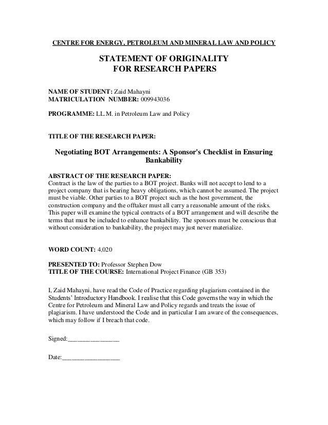 Zaid Mahayni Bankability Of Bot Arrangements Cepmlp 2000 2001