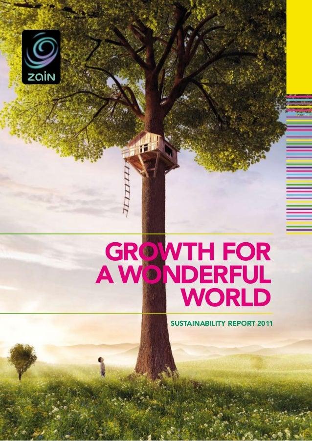 GROWTH FORA WONDERFUL     WORLD    SUSTAINABILITY REPORT 2011