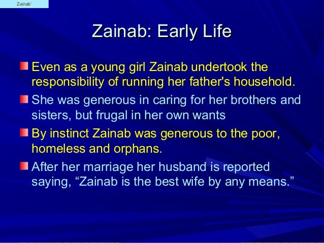 Zainab Daughter of Ali Ibn Abi Talib A S