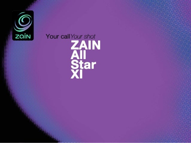 Zain All Stars 'your call, your shot' pitch