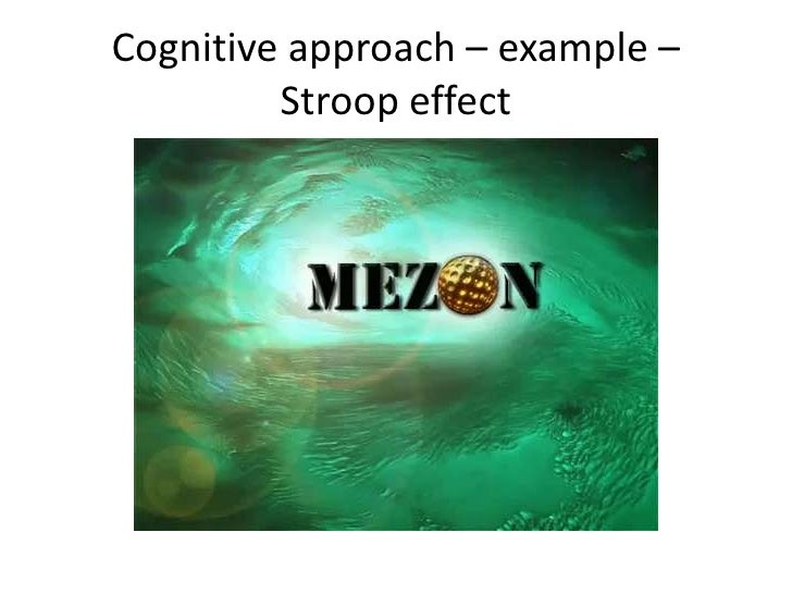 A study to understand cognitive processes of the stroop effect