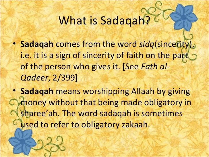 zakah and sadaqa
