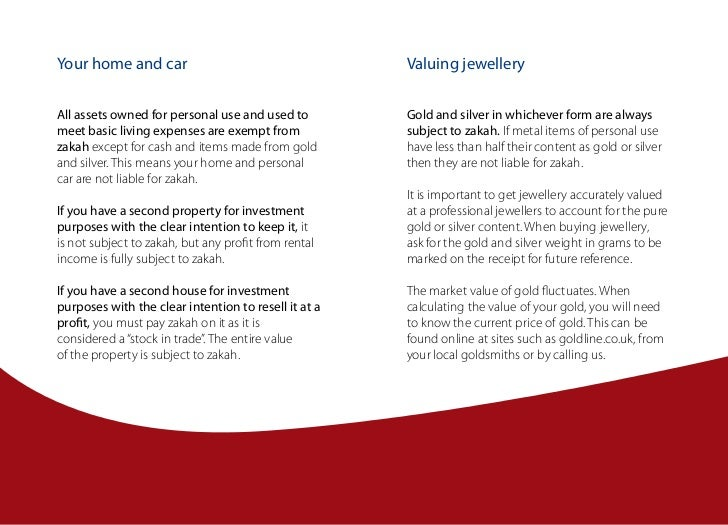 Your home and car                                     Valuing jewelleryAll assets owned for personal use and used to      ...
