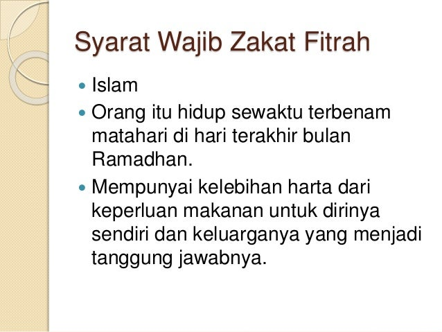 Zakat Fitrah Dan Zakat Mal