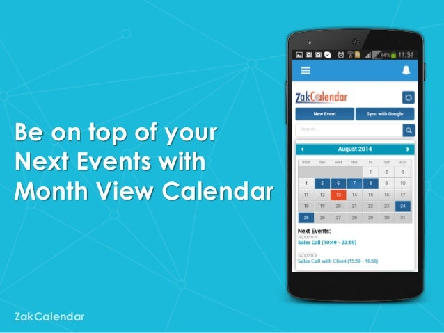 ZakCalendar: Calendar App for Salesforce1 Mobile Platform