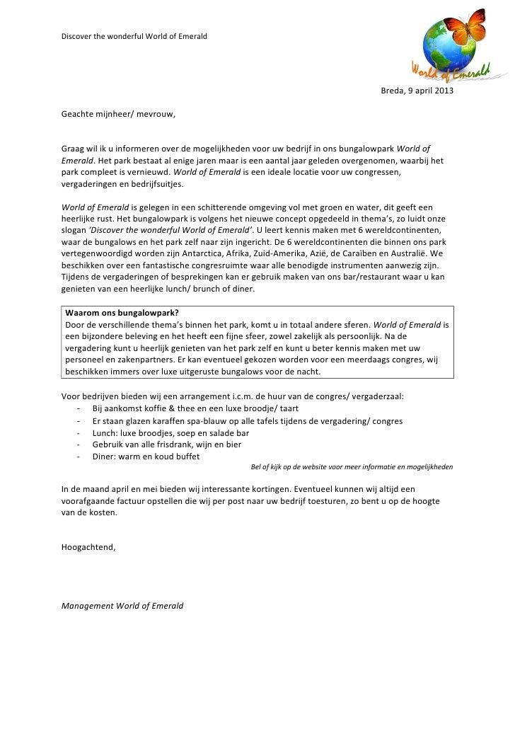 Brief Layout Zakelijk : Zakelijke brief