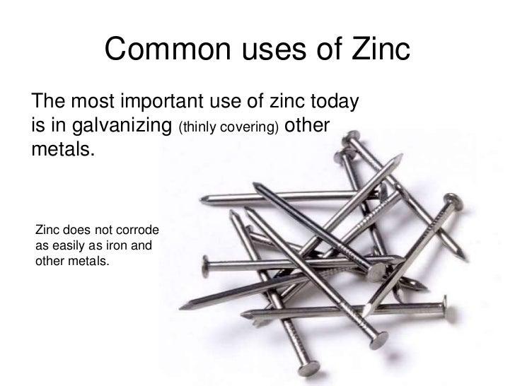 Uses For Zinc Zinc (Zak Konys)
